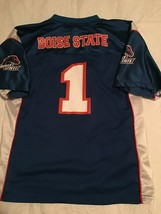 BOISE STATE BRONCOS JERSEY #1--YOUTH XXL--SIZE 18--OUTERSTUFF--NCAA--EUC - $17.99