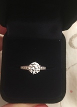 Two Carat CZ Solitaire Fashion Engagement Ring Size 7 - $74.95
