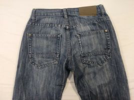 Nautica Boys Size 12 Mid Wash Blue Denim 5 Pocket Straight Leg Slim Jeans (#8) image 7