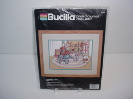 Bucilla Stitchery Needlecraft Kit Cross Stitch Needlepoint Grandma's Attic - $19.70