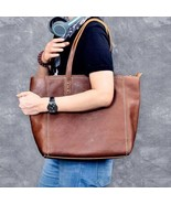 On Sale, Shoulder Bag for Men and Women, Full Grain Leather Bag, Shopper... - $195.00