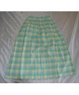 Womens Vintage Peggy Hart Pleated Skirt ~ SZ M ~ Long ~ Plaid ~ RN 57420... - $29.69