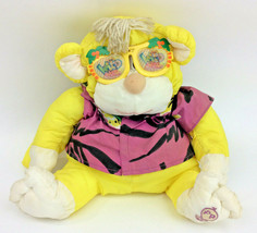 "Fisher Price Puffalump Jungle Wild Monkey Yellow 1987 Plush Sunglasses 16"" - $33.85"