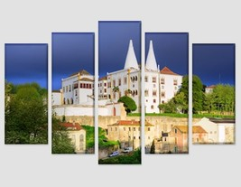 The National Palace, Sintra, Portugal Canvas Print Portugal Wall Art Arc... - $49.00