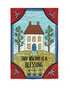 Evergreen Garden Yard Flag Each New Day is a Blessing 12x18 Double sided... - $28.59