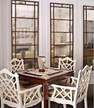 Pair 2 Restoration Windowpane Antique Smoke Floor Wall Dressing Mirror - $999.00