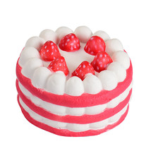 Type Red Squeeze toys Soft Stress Reliever Strawberry Cake Scented Super... - $9.68
