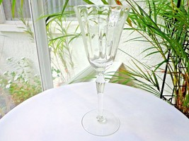 Rock Sharpe Floral Cutting Clear  Water Goblet #2013  c 1940's - $18.99