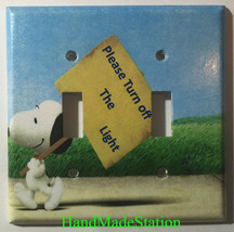 Peanuts Snoopy Turn off the Light Switch Power Outlet Cover Plate Home Decor image 4