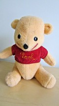 Winnie The Pooh Plush Vintage Stuffed Animal Bear Disney Pooh Bear - $65.33