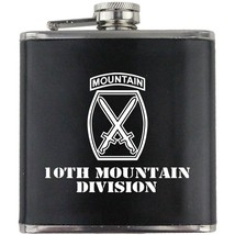 Army 10th Mountain Division Veteran Soldier Groomsman Gift Leather Wrapped Flask - $19.79
