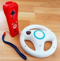 Mario Nintendo Wii Plus (RVLAPNRB) Multimedia Remote with Racing Wheel - $59.99