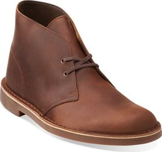 Clarks Bushacre 2 Ankle Boots NEW Dark Brown Leather $100 men's shoes - $99.99