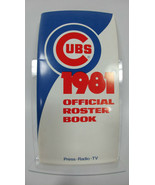 1981 CHICAGO CUBS MEDIA GUIDE ROSTER with Official Cubs Sticker unused - $17.79