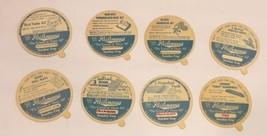 Lot Of 8 Heilemanns Ice Cream Dixie Sundae Cup Lids Jefferson Wisconsin ... - $10.37