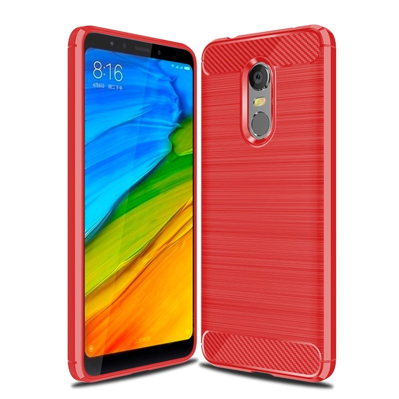 Primary image for Carbon Fiber Phone Cases For Xiaomi Redmi Case Silicone (Red Case)