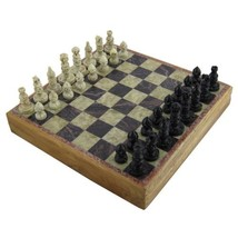 Marble Stone Art Unique India Chess Pieces and Board Set 8 X 8 Inches - $26.05