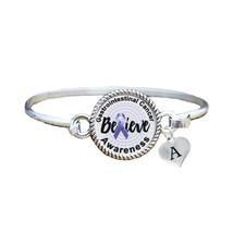 Custom Gastrointestinal Cancer Awareness Believe Silver Bracelet Jewelry... - $13.80+