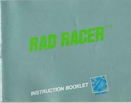 Original Vintage Rad Racer Nintendo Nes Manual - $13.99
