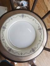 Vintage Japan China Noritake 6PC Lot Dinner Plates Sutherland Pattern Gold Trim - $59.35