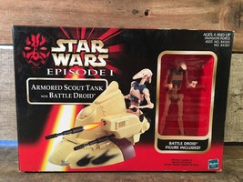 Hasbro Star Wars Episode I Armored Scout Tank w/ Battle Droid Action Fig... - $9.89