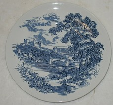 "Vintage Countryside Enoch Wedgwood White & Blue 9 7/8"" Dinner Plate Replacement - $27.72"