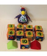 Soft Baby Blocks Toy Stack Build Educational Numbers Soft Textures Pengu... - $19.99