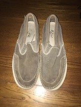 Sperry Top Sider Striper Mens Slip On Sneaker Shoes Brown Size 10M - $15.00