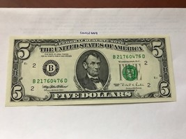 United States $5.00 banknote uncirculated 1995 #4 - $13.95