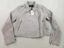 new 7 FOR ALL MAN KIND women jean jacket 67593 grey sz M - $78.83