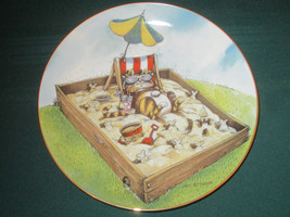 TIME OUT Collector Plate GARY PATTERSON Comical Cats - $19.34
