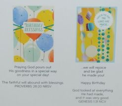 Day Spring WW1015 Birthday Blessings Cards Contains 5 each of 2 Designs Pkg 10 image 3