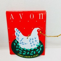 Avon The Twelve Days Of Christmas Ornaments Three French Hens  - $9.49
