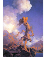 Maxfield Parrish Ecstasy 15x22 Hand Numbered Edition Art Deco Print - $39.59
