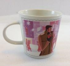 Nescafe Nestle Winter Love Coffee Tea Mug Ltd Edition 2006 8 oz Pink Bac... - $25.97