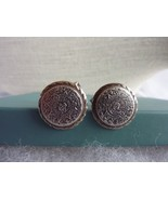 Vintage ERAO Mexico Round Cuff Link STERLING Signed - $26.41
