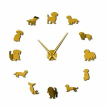 Large Dog Breeds DIY Wall Clock Puppy Pet Dachshund Store Decor Dog Love... - $31.35+