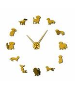 Large Dog Breeds DIY Wall Clock Puppy Pet Dachshund Store Decor Dog Love... - $29.16+