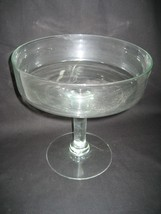 "Vintage Clear Glass Pedestal 10"" Salad Bowl or Dessert Dish - $14.92"