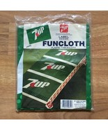 Vintage 7UP Funcloth Tablecloth Label Design Plastic Picnic 76x42 New Ol... - $14.50