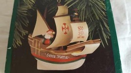 "NIB AMERICAN COMMEMORATIVE HALLMARK KEEPSAKE ORNAMENT SANTA MARIA 3"" - $8.90"