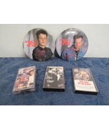 Lot of 3 New Kids On The Block Cassettes & 2 Large Buttons Pins  - $19.91
