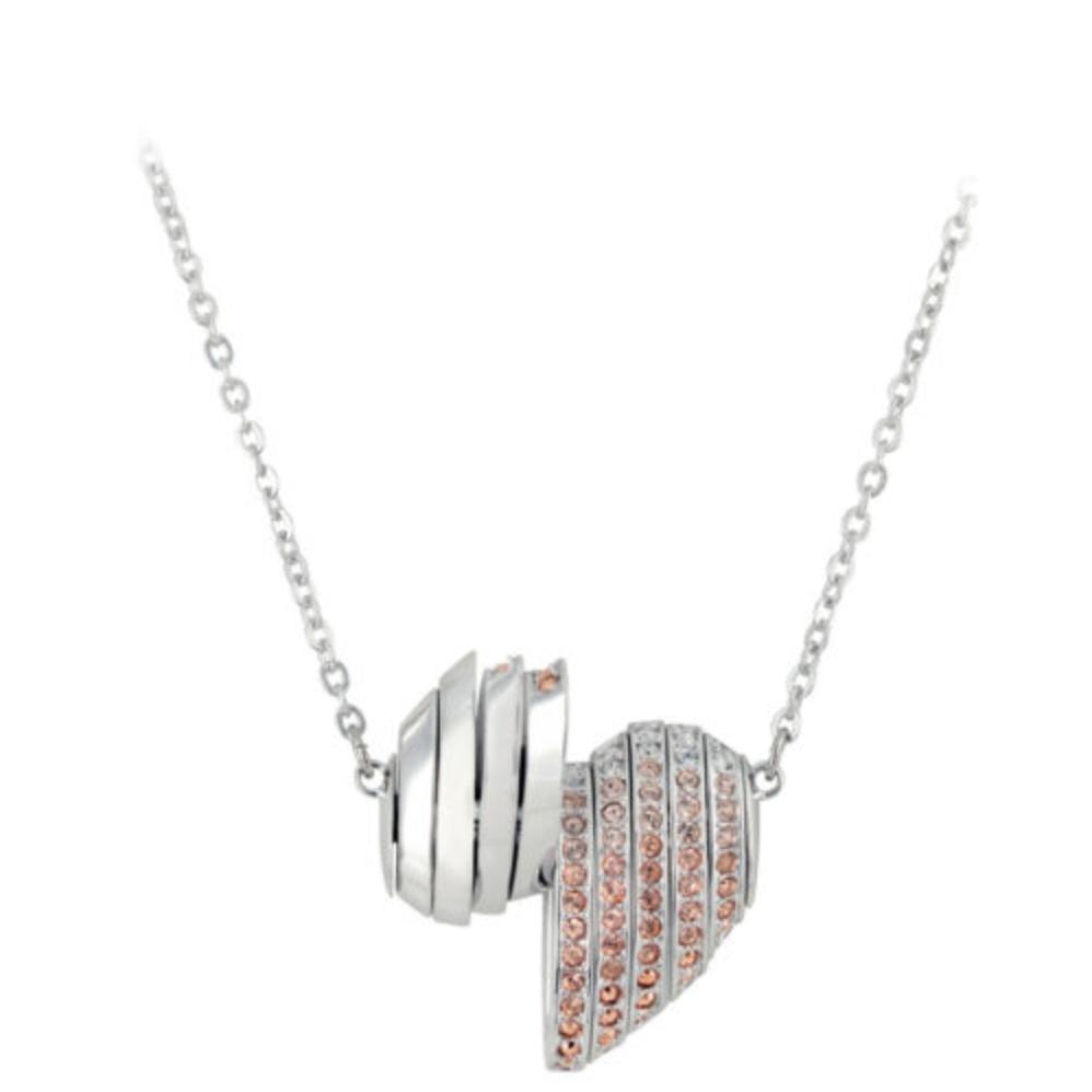 Swarovski Crystal Authentic Pendant Necklace Heart EXPLORE Signed Reversible image 4