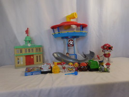 Paw Patrol Rocky's City Hall Rescue Adventure Bay Playset + Lookout Tower + Figu - $46.02