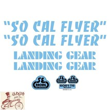 SE BIKES SO CAL FLYER BLUE STICKERS DECAL SET - $19.79