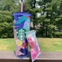 Starbucks Floral Spring 2021 Venti 24 Oz. Tumbler with Lipgloss Bundle - $39.59