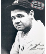 Facsimile Autographed Babe Ruth - New York Yankees - $39.00