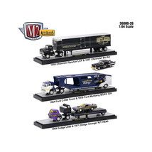 Auto Haulers Release 26, 3 Trucks Set 1/64 Diecast Models by M2 Machines... - $84.57