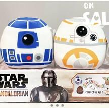 "KellyToy Squishmallow Disney Star Wars Mandalorian 5"" R2D2 & BB8 Set NEW Plush - $29.66"