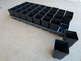 12 Divided Trays and 384 - 2.5 inch SQUARE DEEP NURSERY POTS Landmark - $95.00